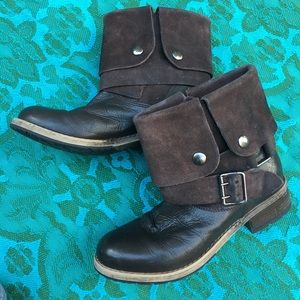 Clarks Leather Boho Booties with Buckle, Durable